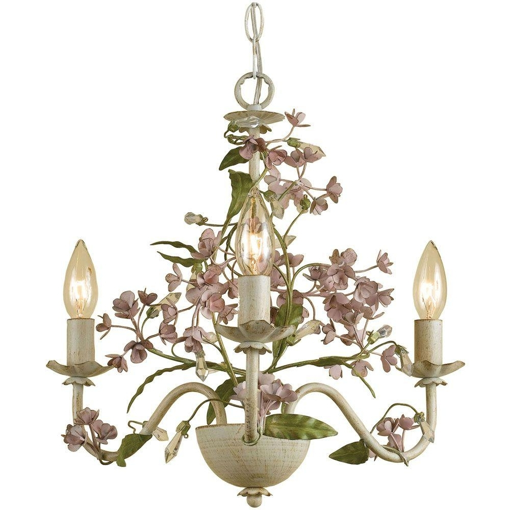 Cream Chandelier Lights With 2019 Af Lighting Grace 3 Light Antique Cream Mini Chandelier 7044 3H (View 3 of 20)