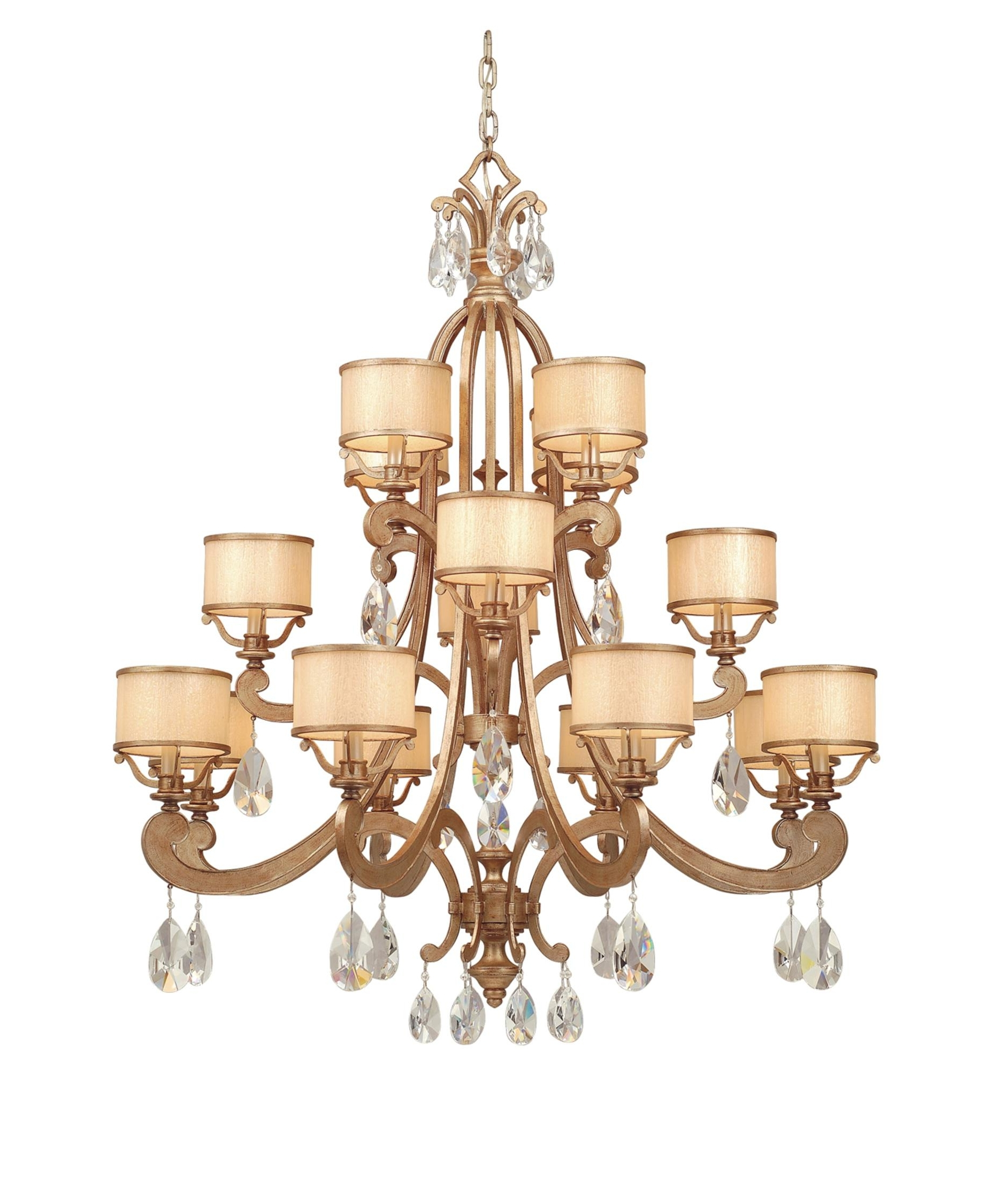 Cream Crystal Chandelier In Well Liked Corbett Lighting Ro 016 Roma 43 Inch Wide 16 Light Chandelier (View 4 of 20)