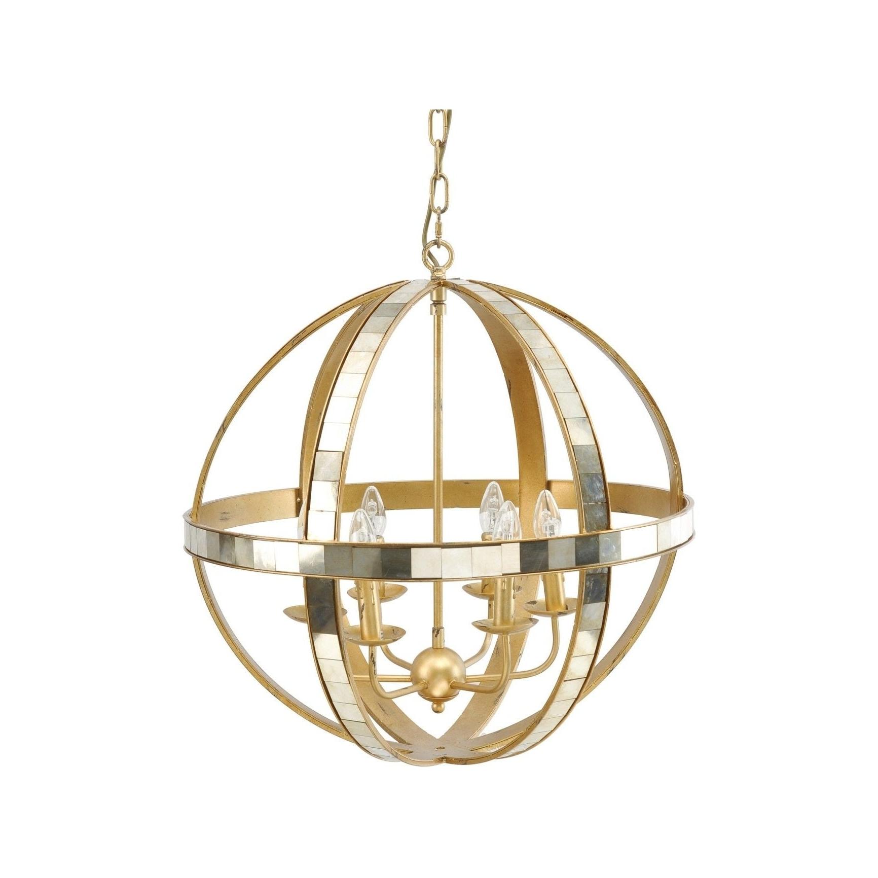 Cream Gold Chandelier With Regard To Latest Living Room : Gold Pendant Chandelier Gold Sputnik Chandelier Gold (View 19 of 20)
