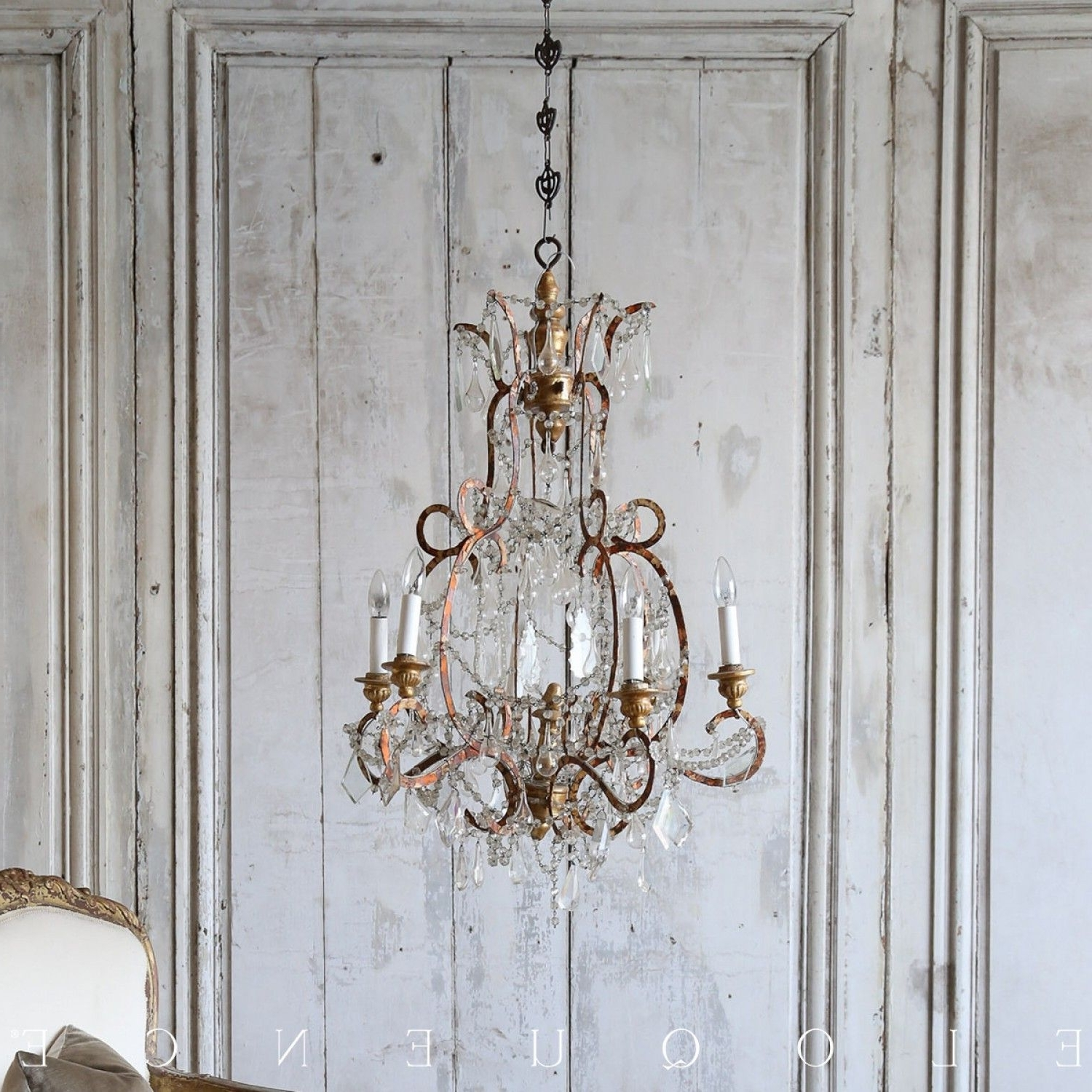 Cream Gold Chandelier Within Most Popular Eloquence® Antique French Orange Cream Gold Chandelier $ (View 14 of 20)