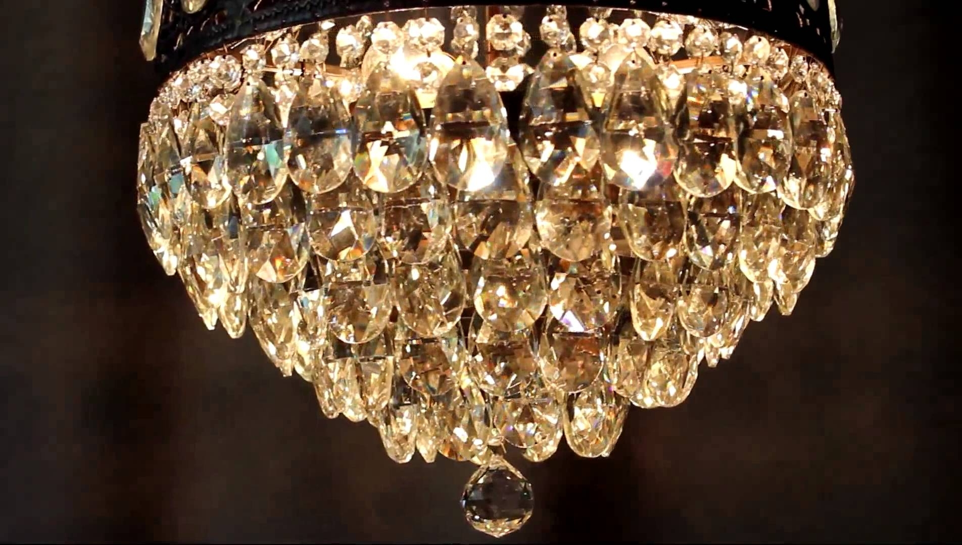 Crystal And Brass Chandelier For Famous Vintage Antique Luster Crystal Candelabra Chandelier Lighting Brass (View 20 of 20)