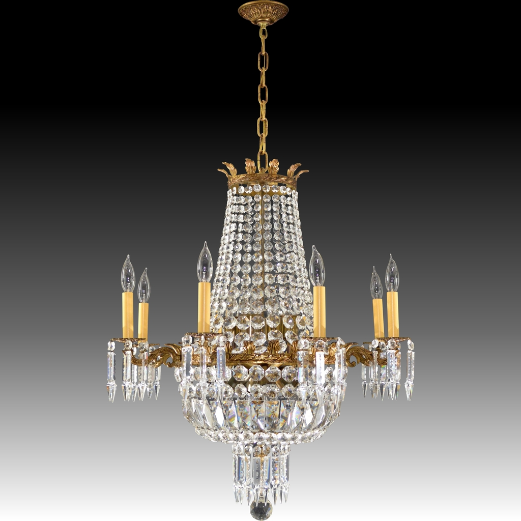 Crystal And Brass Chandelier In Famous Chandelier (View 8 of 20)