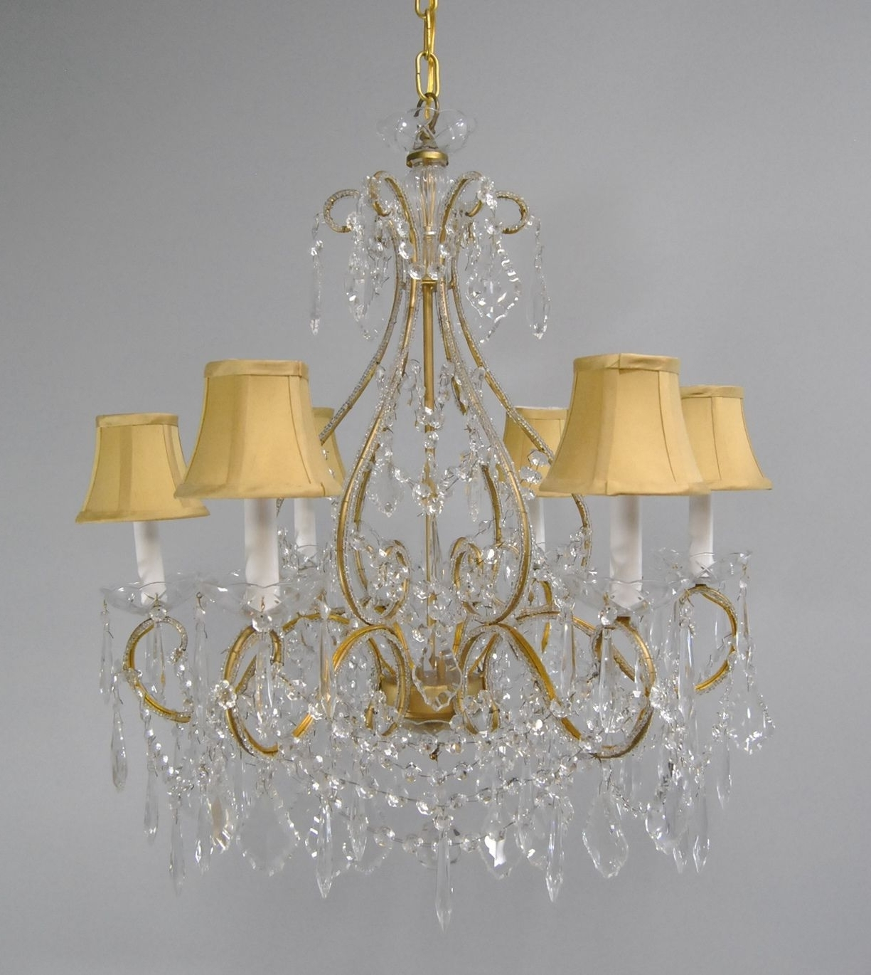 Crystal And Brass Chandelier Within Current Chandelier (View 13 of 20)