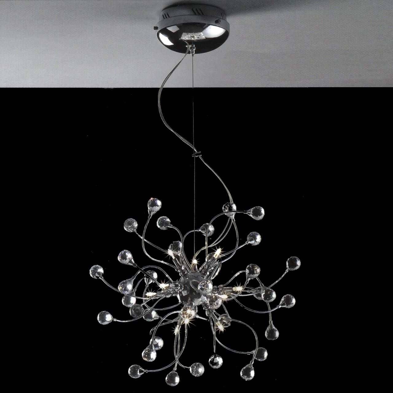 Crystal And Chrome Chandeliers With Regard To Well Liked Brizzo Lighting Stores (View 6 of 20)
