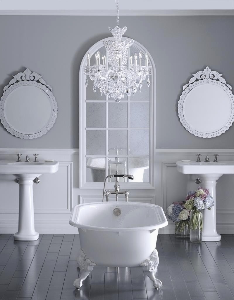 Crystal Bathroom Chandelier With Regard To Newest Crystal Light Fixtures For Bathroom Inspirational Attractive Crystal (View 7 of 20)