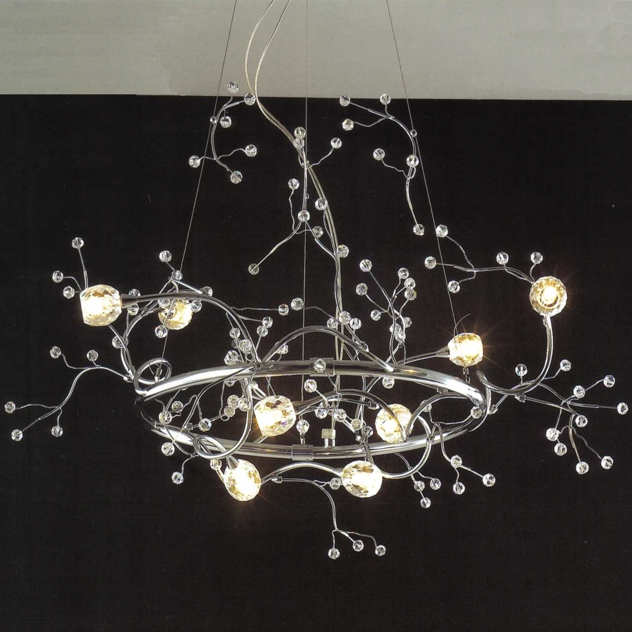 Crystal Branch Chandelier With Regard To Popular Brizzo Lighting Stores (View 7 of 20)