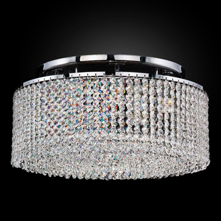 Crystal Ceiling Lights Flush Mount (View 4 of 20)