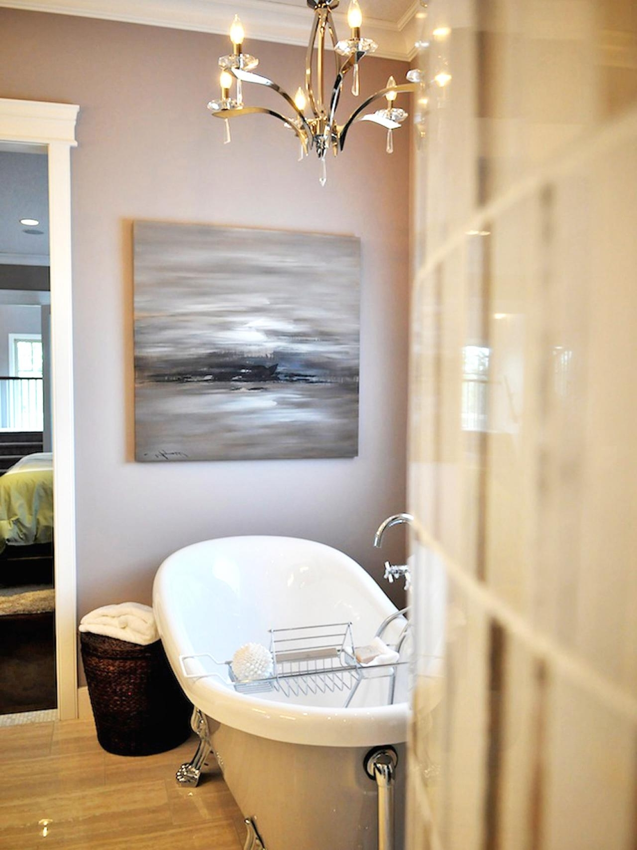 Crystal Chandelier Bathroom Lighting Throughout Popular Bathroom Lighting Fixtures (View 15 of 20)