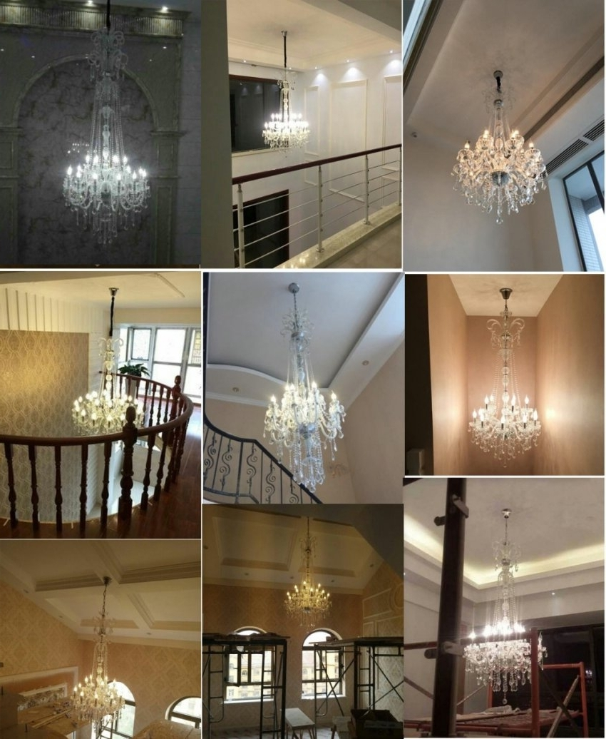 Crystal Chandelier Modern Large Crystal Chandelier For For Throughout Well Known Modern Large Chandelier (View 7 of 20)