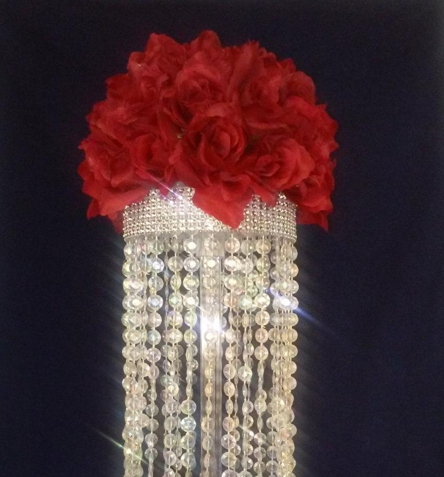 Crystal Chandelier Table Centerpiece (Limited Time Only) – Wedding In 2019 Faux Crystal Chandelier Centerpieces (View 7 of 20)