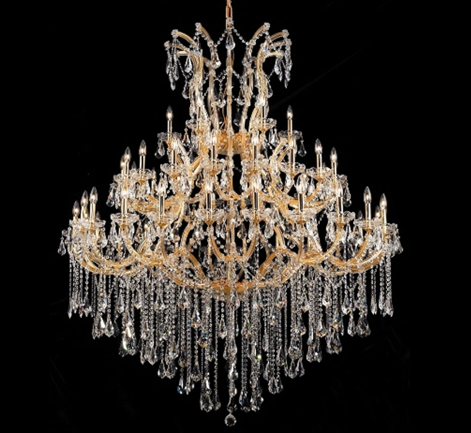 Crystal Chandeliers In Most Up To Date Maria Theresa Collection 49 Light Extra Large Crystal Chandelier (View 8 of 20)