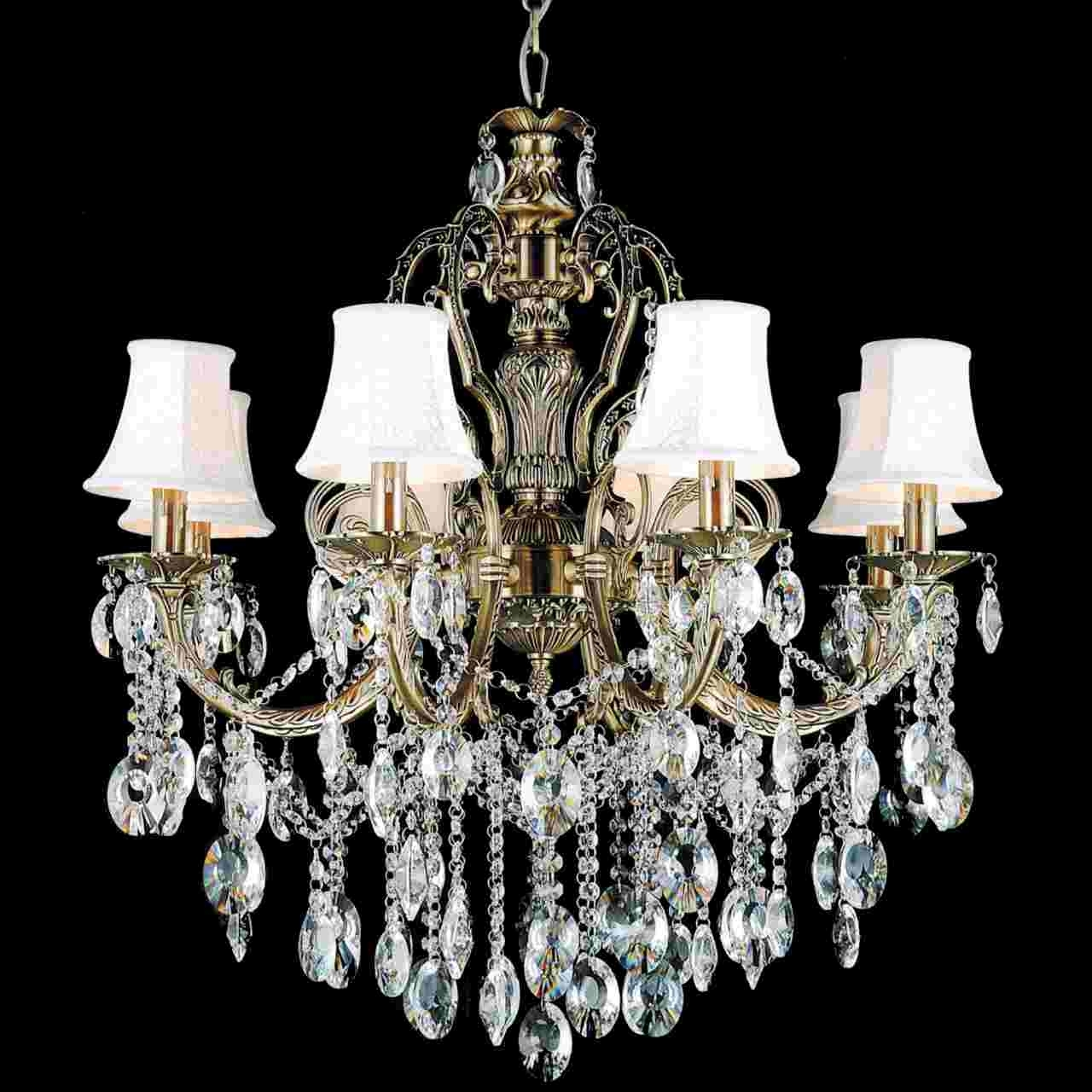 Crystal Chandeliers With Shades Inside Most Current Brizzo Lighting Stores (View 7 of 20)