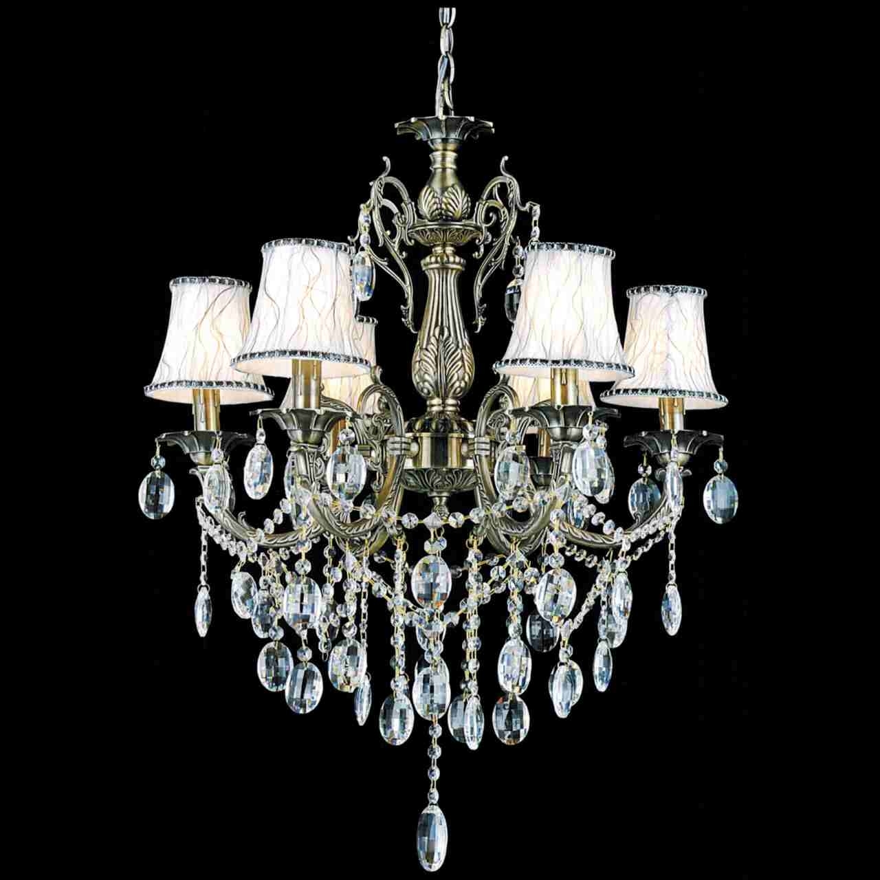 Crystal Chandeliers With Shades Regarding Favorite Brizzo Lighting Stores (View 8 of 20)
