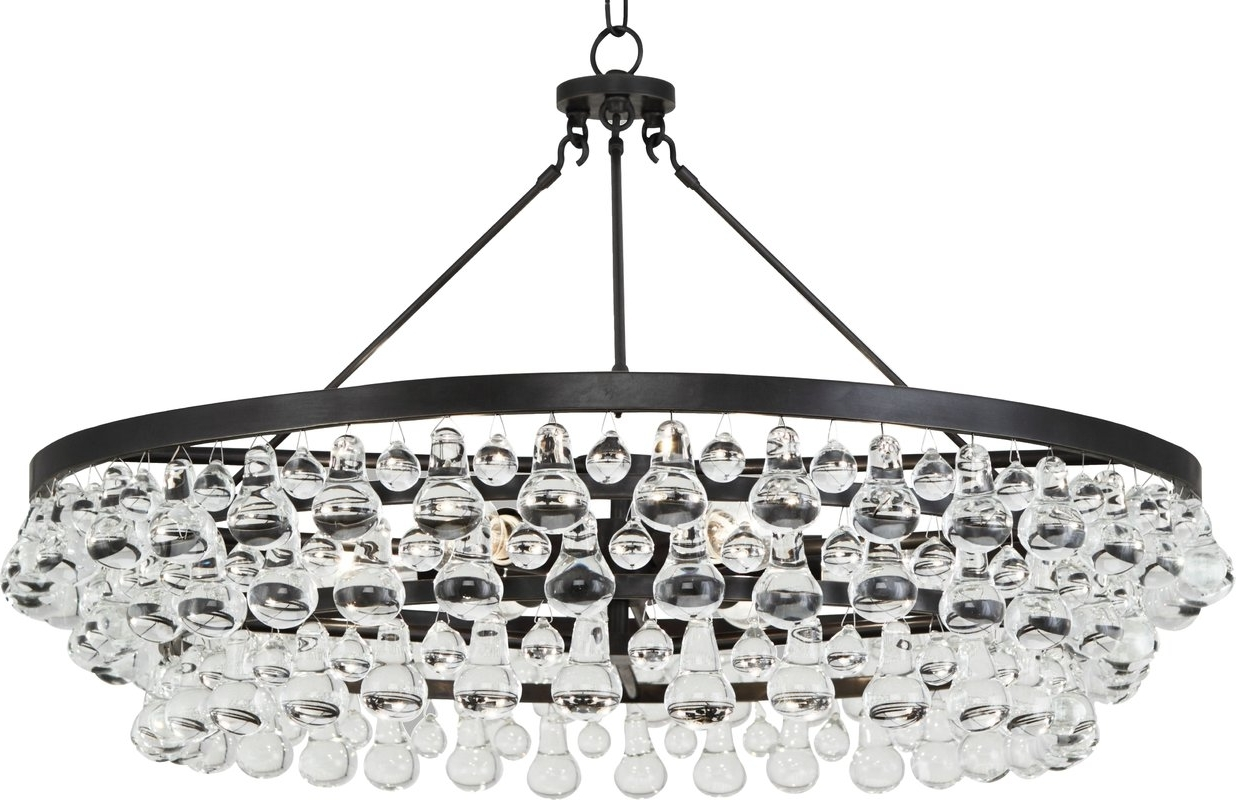 Crystal Drop Round Chandelier (View 2 of 20)
