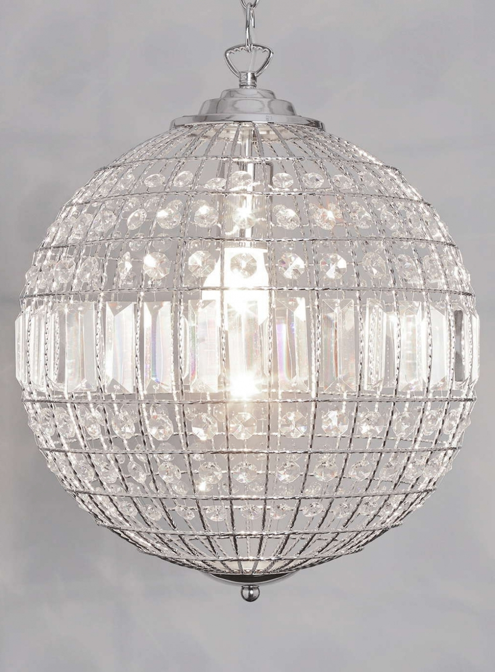 Crystal Globe Chandelier With Most Popular Home Decor: Chandeliers Design : Wonderful Crystal Globe Chandelier (View 11 of 20)