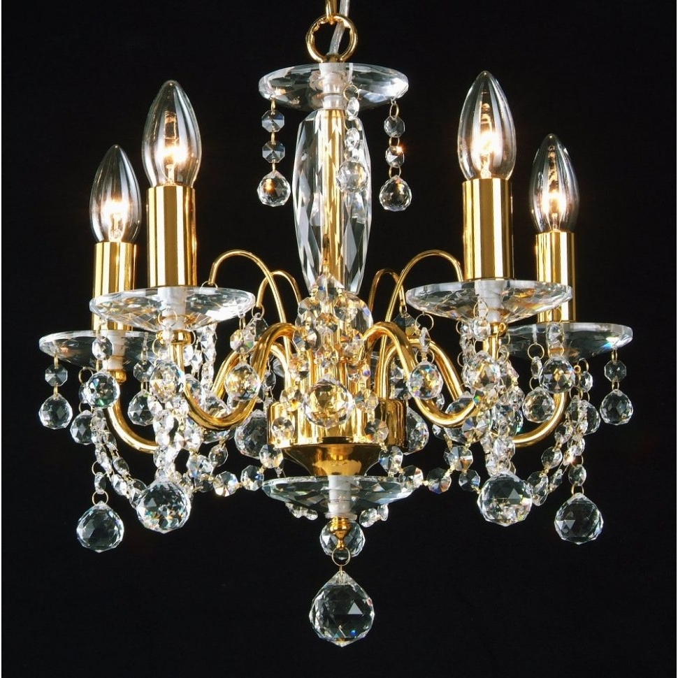 Crystal Gold Chandelier In Most Recently Released Chandeliers Design : Fabulous Terrific Gold Chandeliers Small (View 6 of 20)