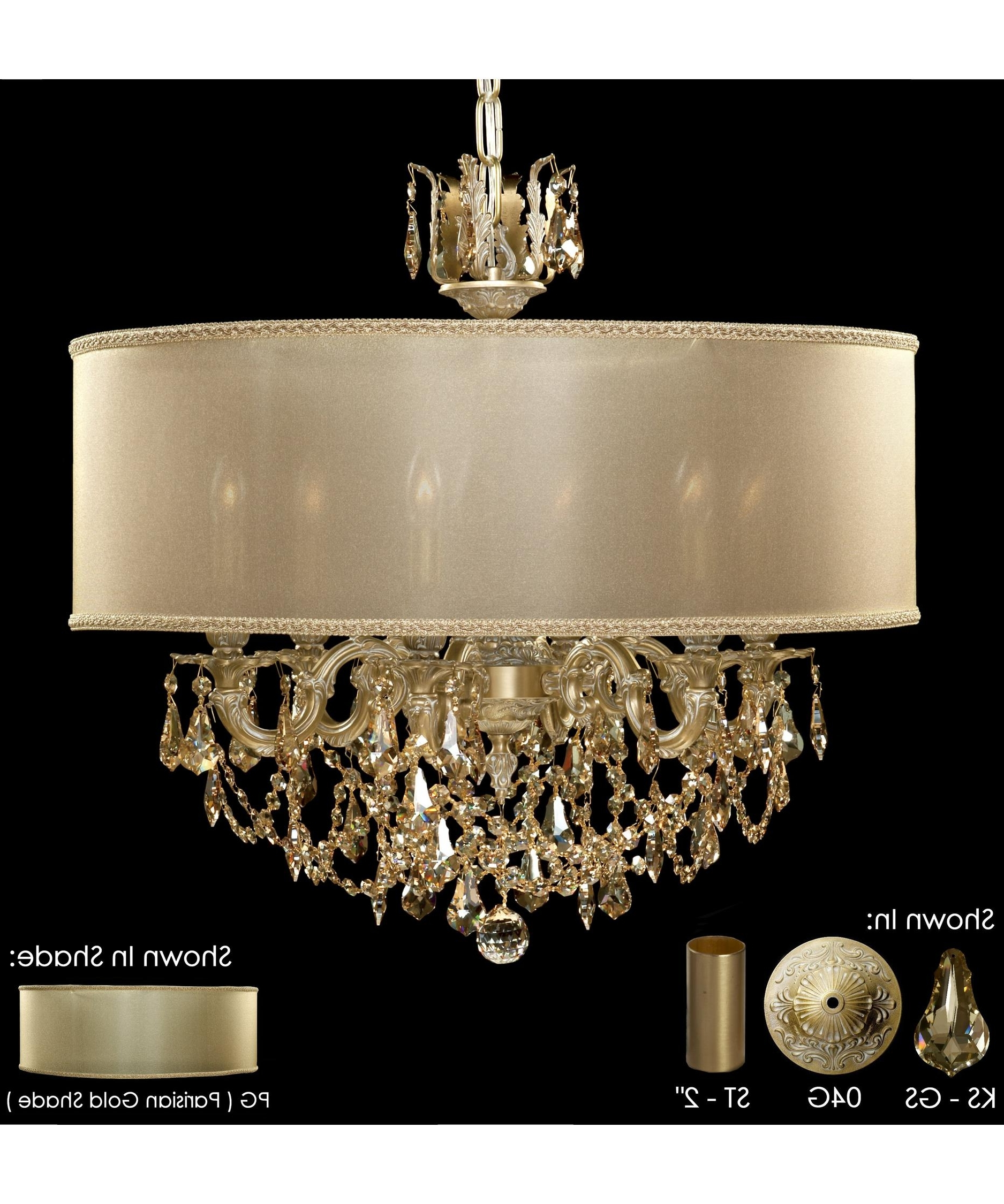 Crystal Gold Chandeliers Throughout Current American Brass And Crystal Ch6522 Llydia 24 Inch Wide 6 Light (View 6 of 20)