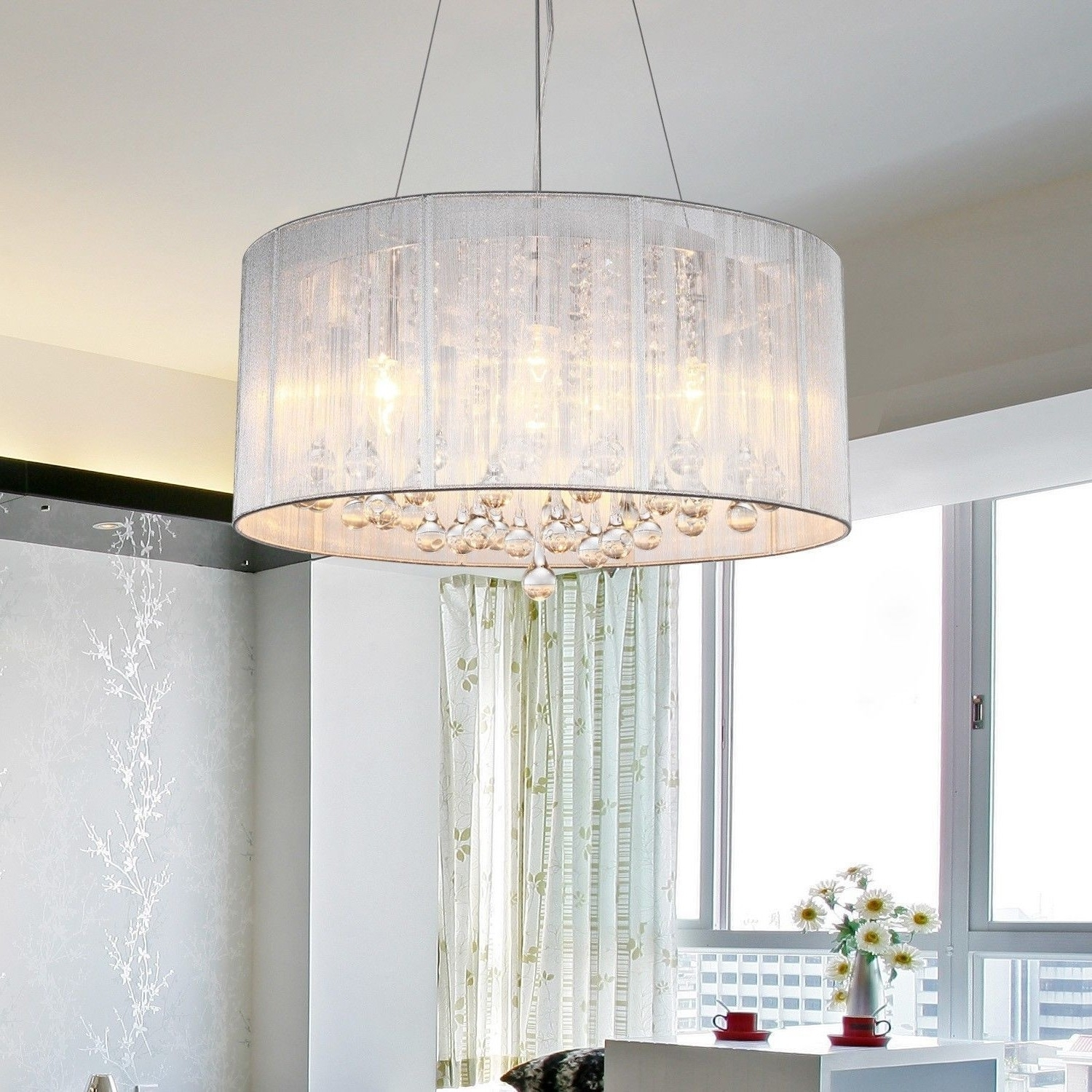 Crystal Lamp Shades For Chandeliers : Lamp World Throughout Most Current Chandeliers With Lamp Shades (View 17 of 20)