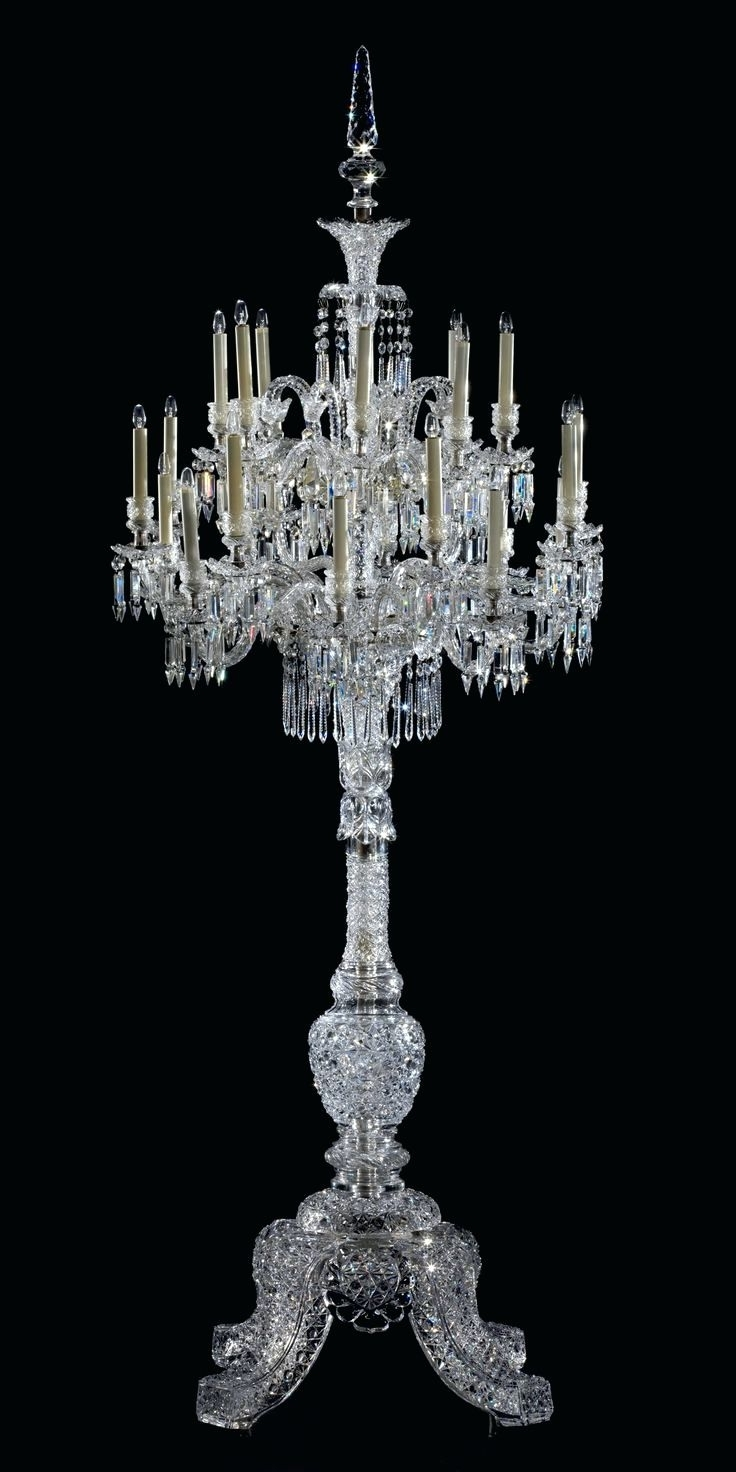 Crystal Table Chandeliers Regarding Most Up To Date Chandeliers Design : Amazing Crystal Floor Lamp Chandelier With (View 20 of 20)
