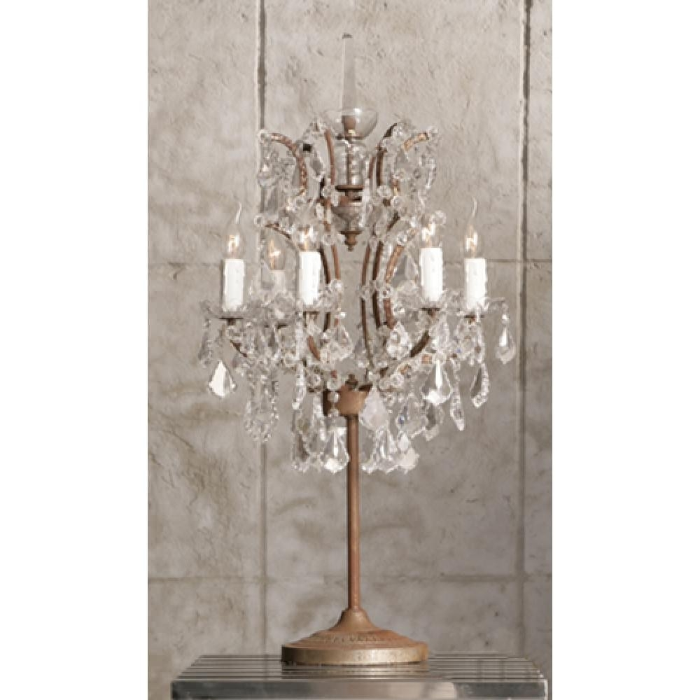 Crystal Table Lamp Riothorseroyale Homes Decorative Chandelier For Well Known Mini Lamps