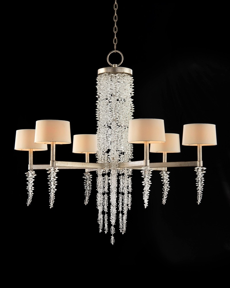 Crystal Waterfall Chandelier Throughout Most Recent Cascading Crystal Waterfall Six Light Chandelier – Chandeliers (View 7 of 20)