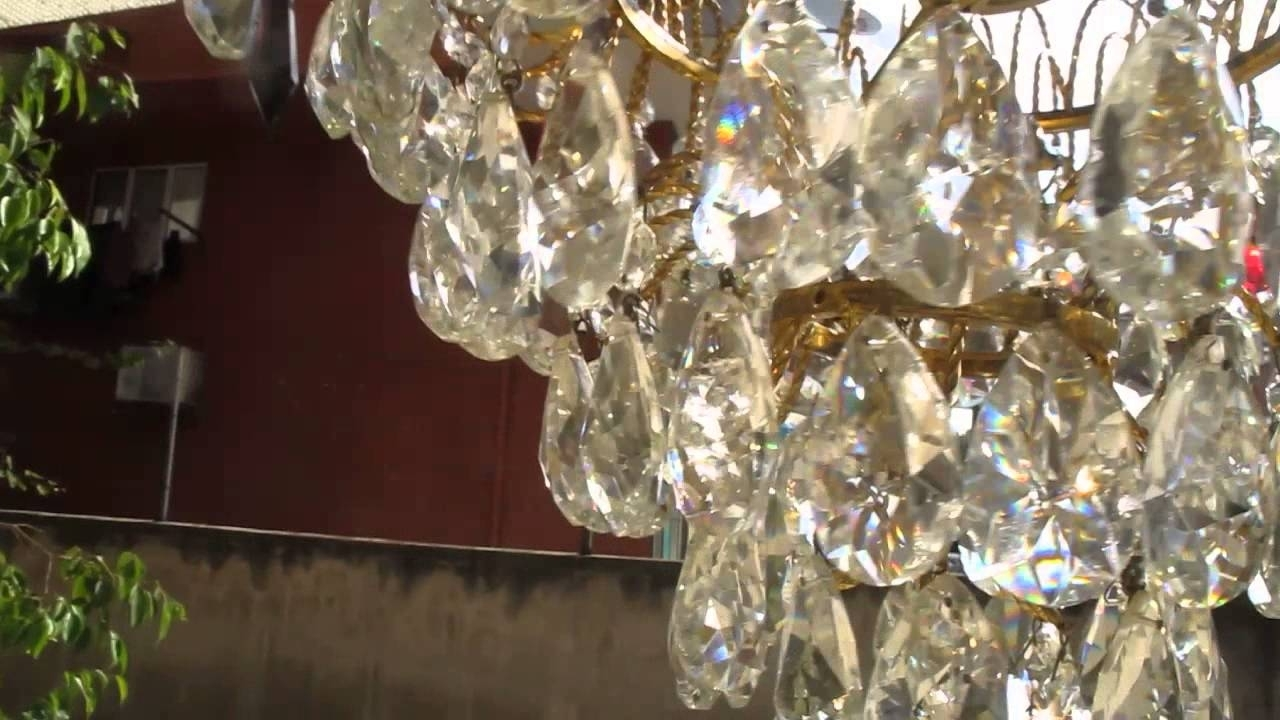 Crystal Waterfall Chandelier Within Well Known Swarovski Crystal Waterfall Chandelier – Youtube (View 9 of 20)