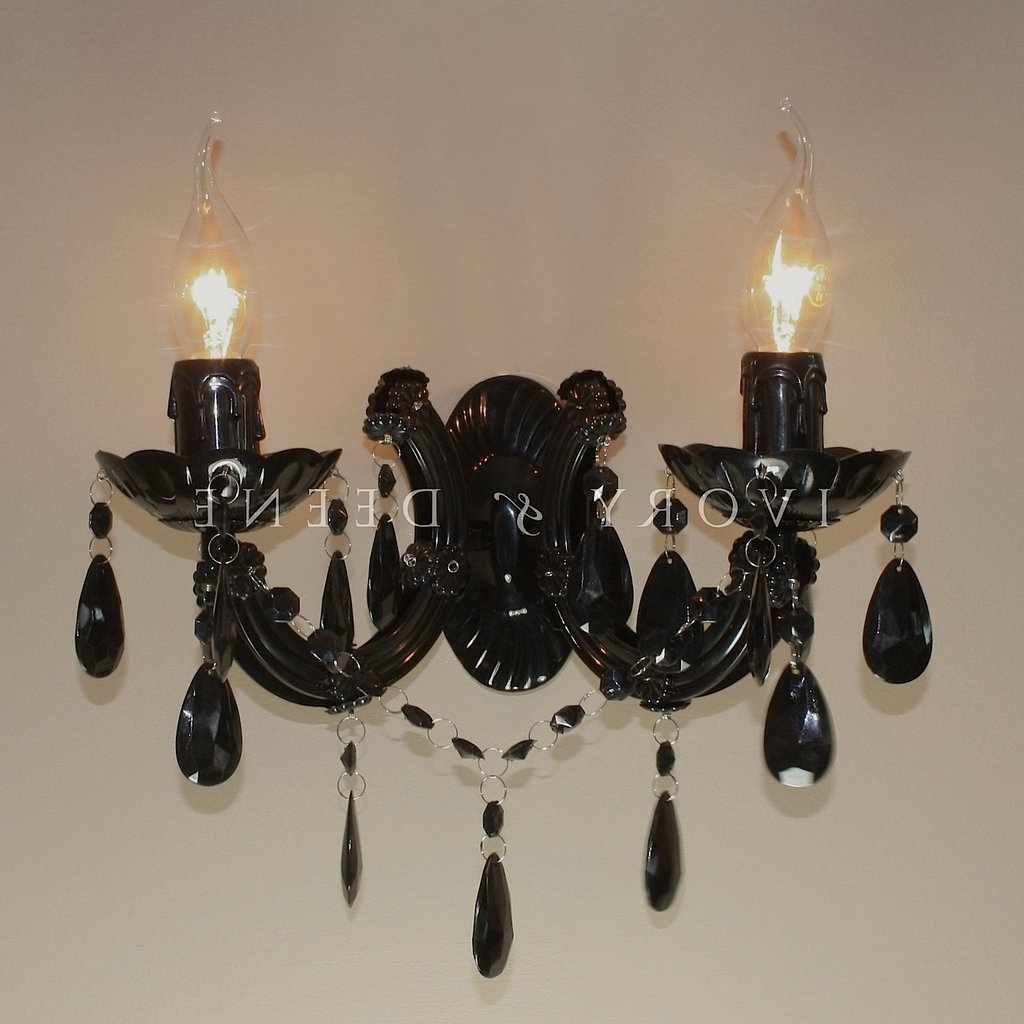 Current Black Chandelier Wall Lights In Lighting : 10 Light Chandelier Modern 10 Light Crystal Chandelier (View 13 of 20)