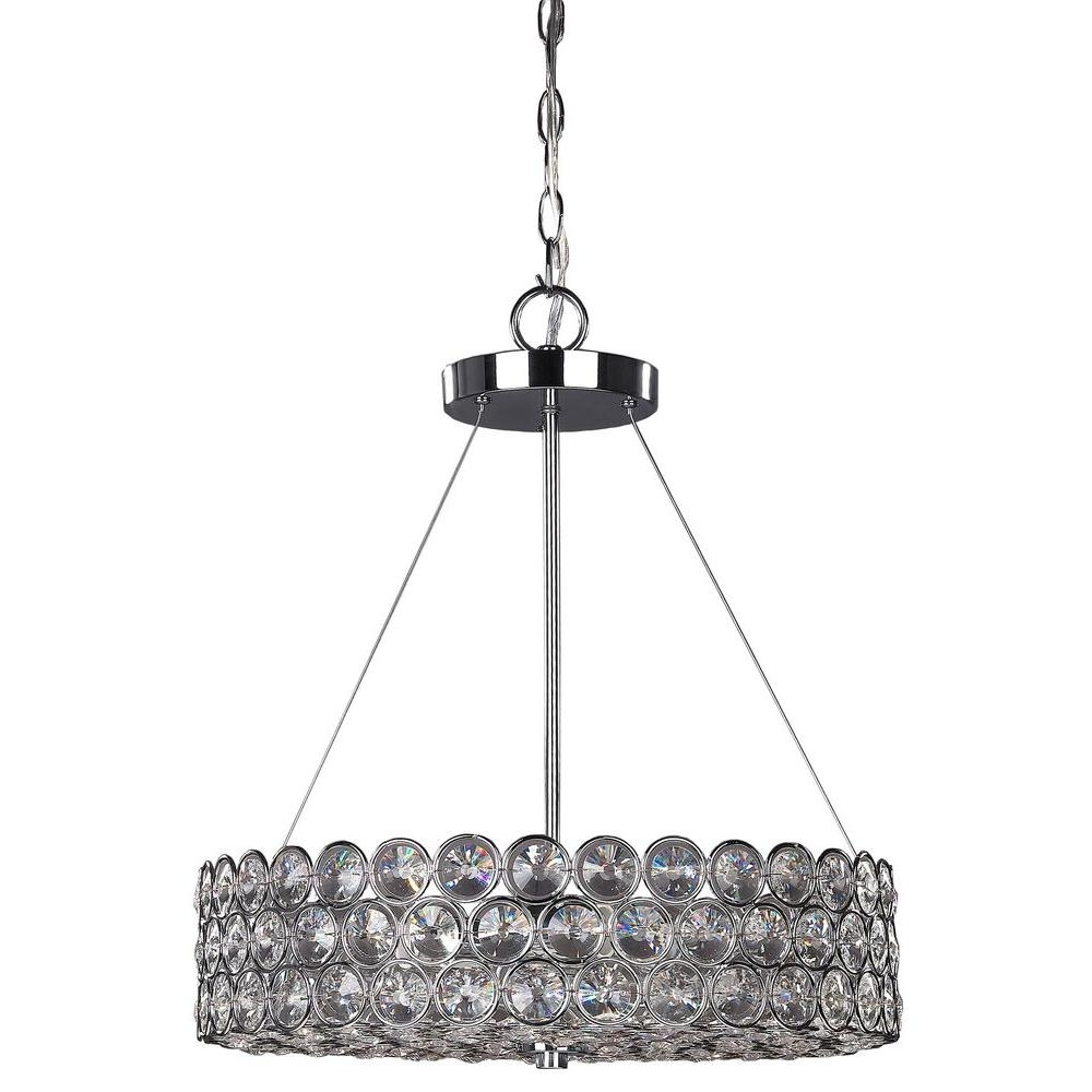 Current Canarm Alice 3 Light Chrome Crystal Chandelier Rich104B03Ch17 – The Intended For 3 Light Crystal Chandeliers (View 10 of 20)