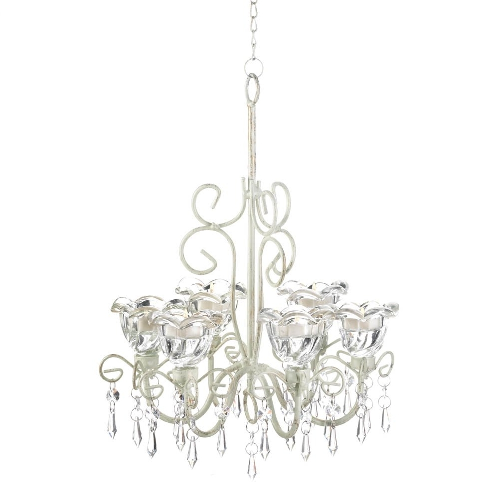 Current Candle Chandelier With Regard To Chandelier Candle Holder, Decorative Hanging Candle Chandelier White (View 10 of 20)