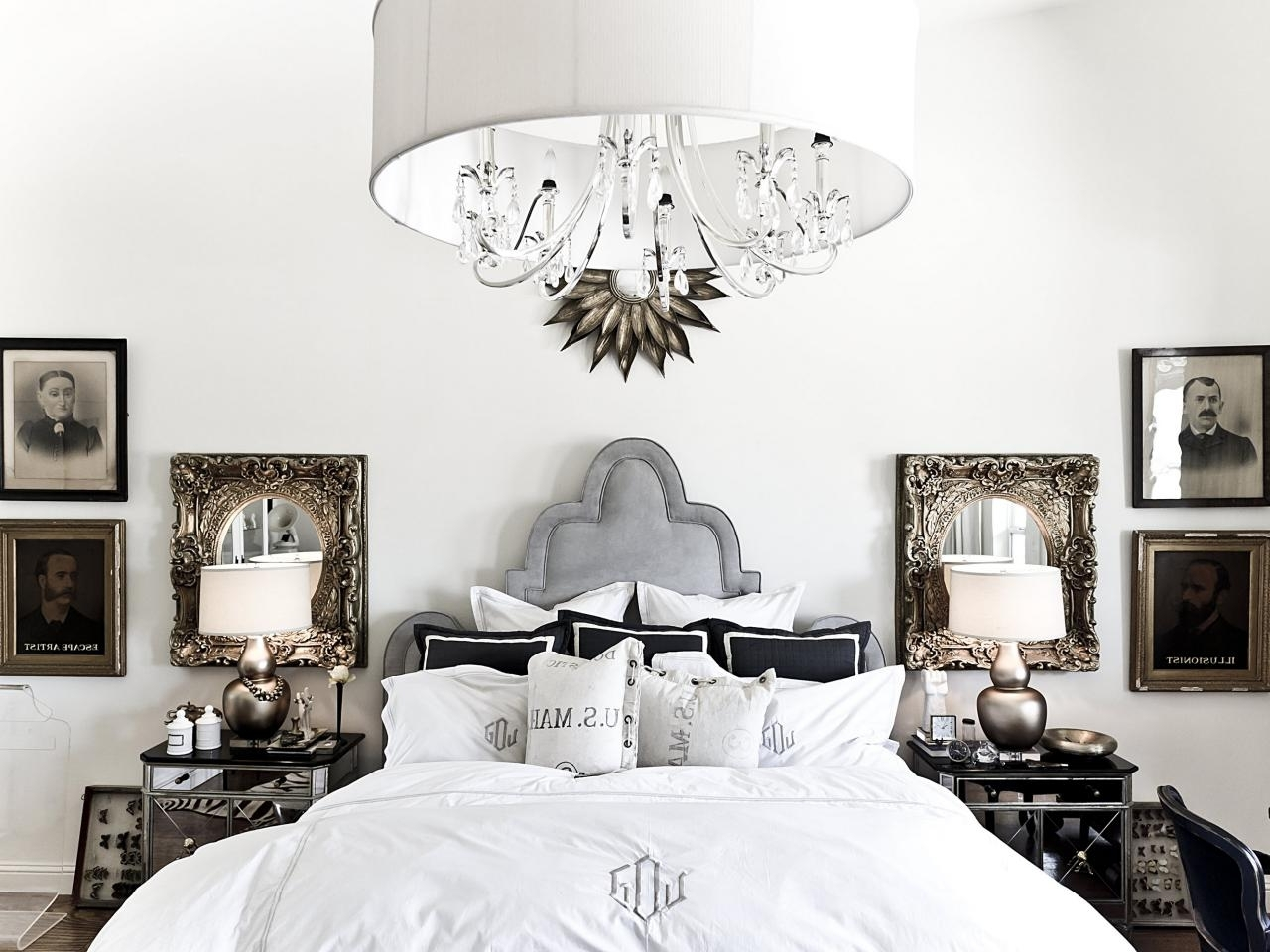 Current Chandelier Night Stand Lamps Throughout Bedroom Chandelier Lighting (View 3 of 20)
