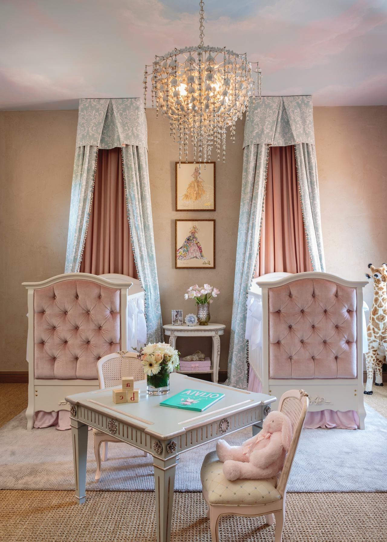 Current Chandeliers For Baby Girl Room Throughout Chandeliers Design : Magnificent Mini Chrome Crystal Chandelier For (View 9 of 20)