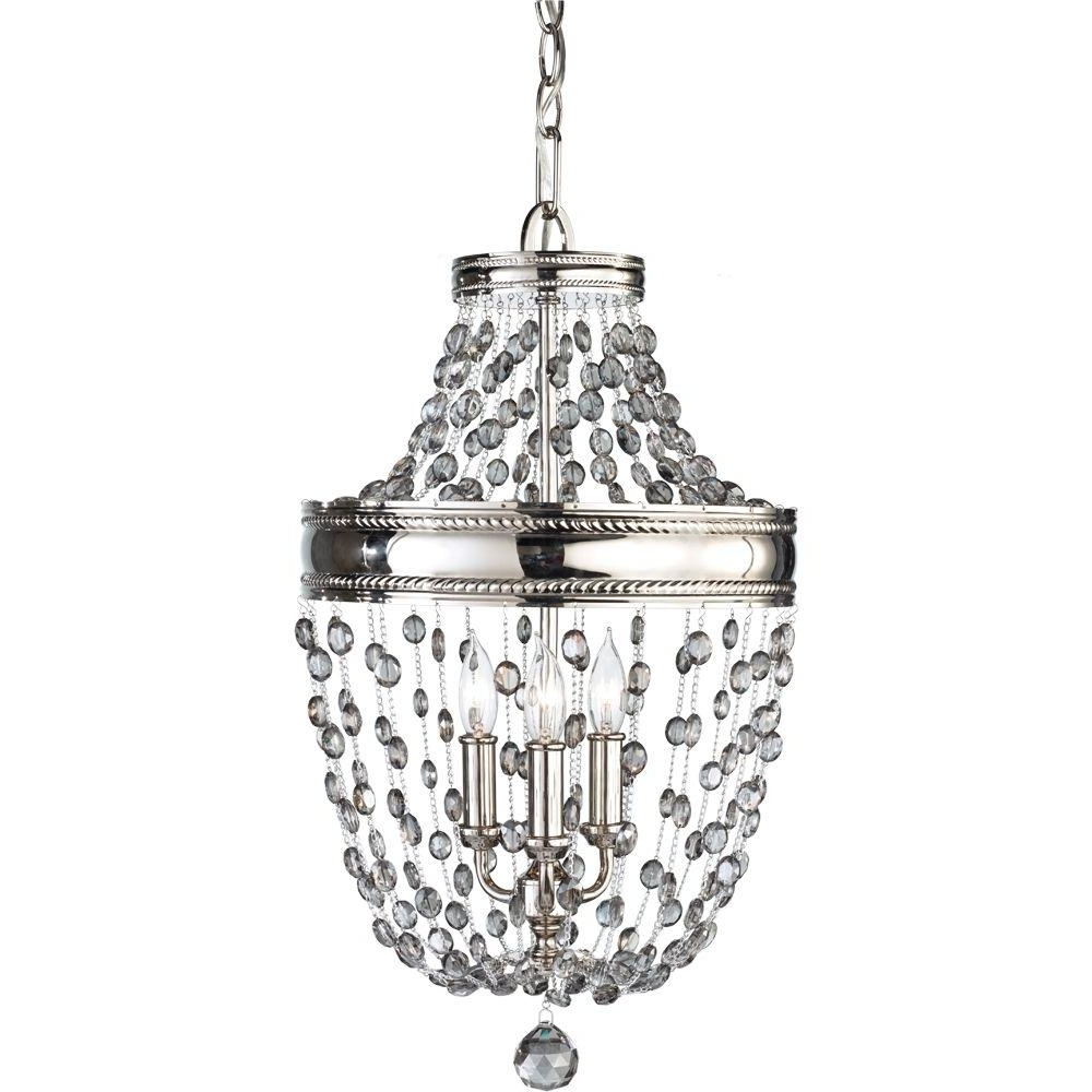 Current Feiss Malia 3 Light Polished Nickel Mini Chandelier F2812/3pn – The With Feiss Chandeliers (View 20 of 20)