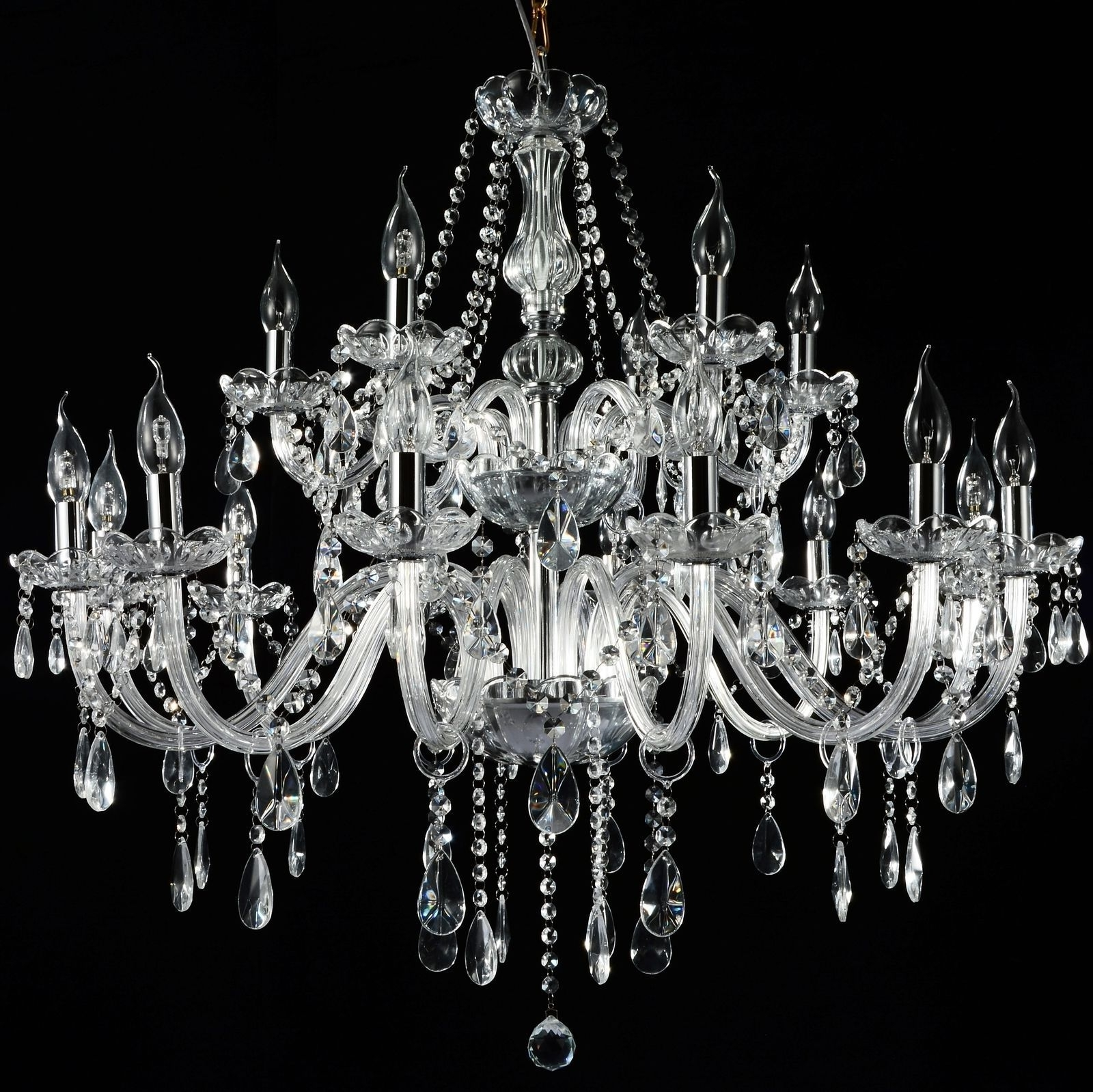Current French Provincial Glass Chandelier 18 Arms (12+6) Ceiling Lights Pertaining To French Glass Chandelier (View 4 of 20)