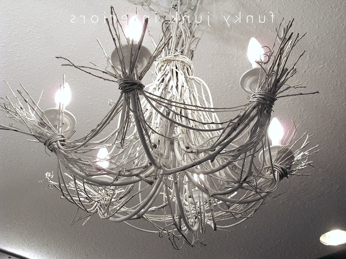 Current Funky Chandeliers Intended For Up My Life With A White Twig Chandelierfunky Junk Interiors (View 7 of 20)