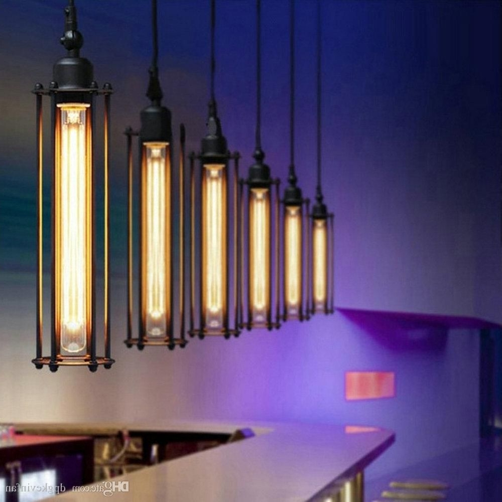 Current Retro Chandeliers With Edison Vintage Flute Pendant Lamp Loft Wrought Iron Chandeliers (View 7 of 20)