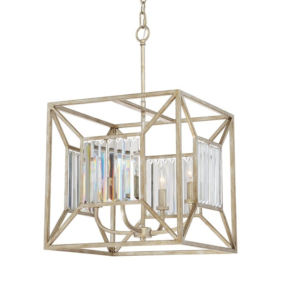 Current Shop Quoizel Sabrina 16 In 4 Light Vintage Gold Crystal Cage Regarding Cage Chandeliers (View 10 of 20)