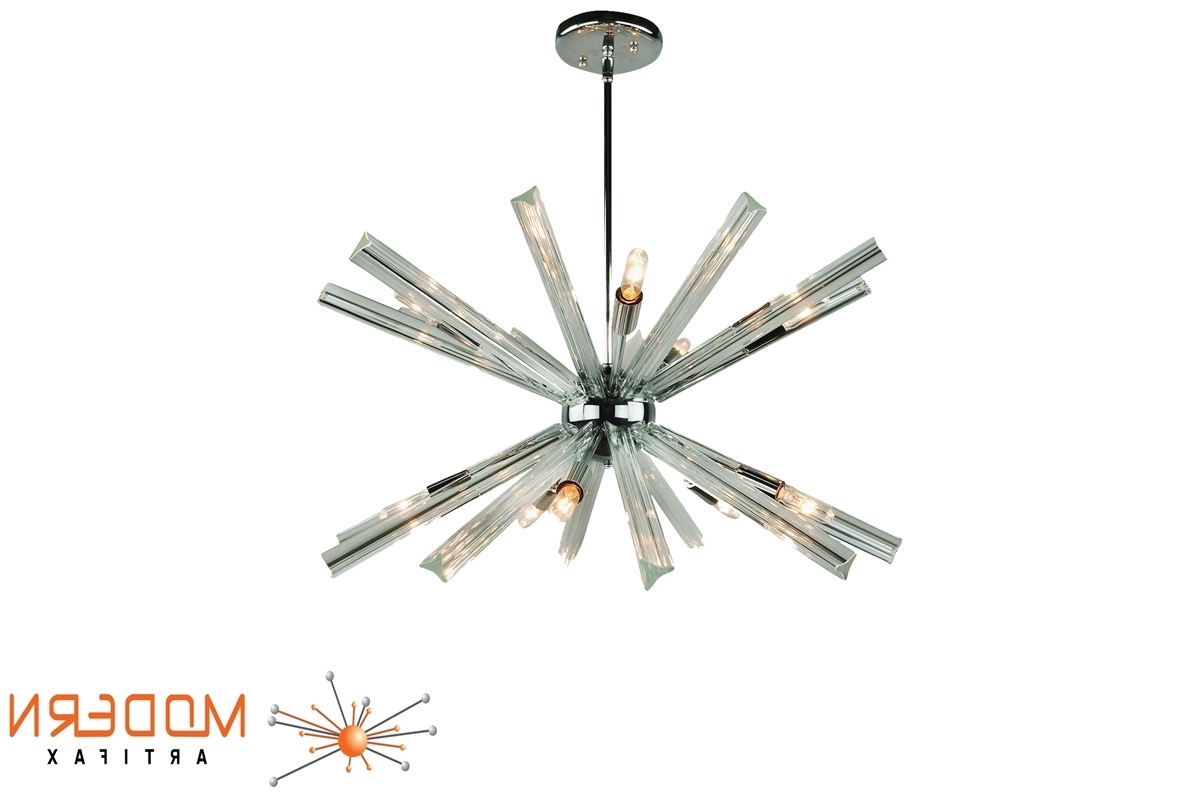 Current Sputnik Chandelier Chrome 27'' In Diameter With 20 Crystal Prisms Throughout Chrome Sputnik Chandeliers (View 10 of 20)