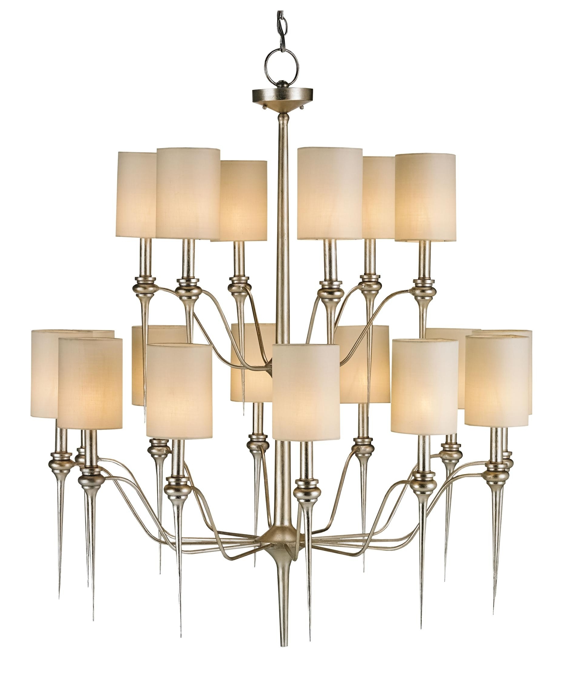 Currey And Company 9807 Chaddbury 43 Inch Large Foyer Chandelier Within 2018 Modern Silver Chandelier (View 12 of 20)