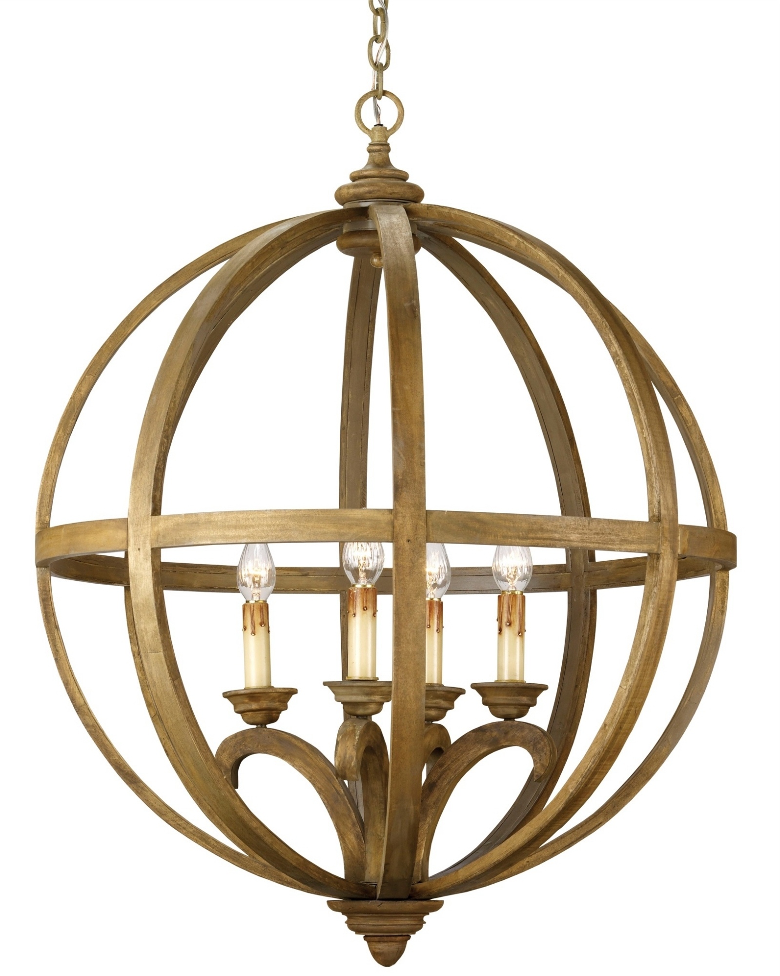 Currey And Company With Regard To Large Brass Chandelier (View 5 of 20)