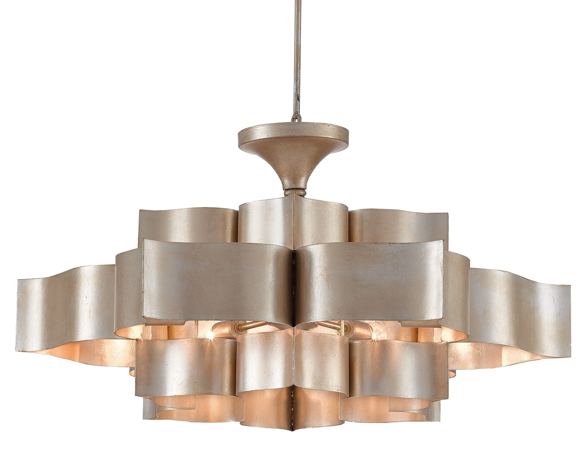 Currey & Company Inside 2019 Silver Chandeliers (View 1 of 20)