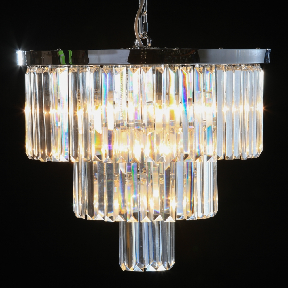 Cut Glass Chandeliers – Shades Of Elegance With Fashionable Glass Droplet Chandelier (View 18 of 20)
