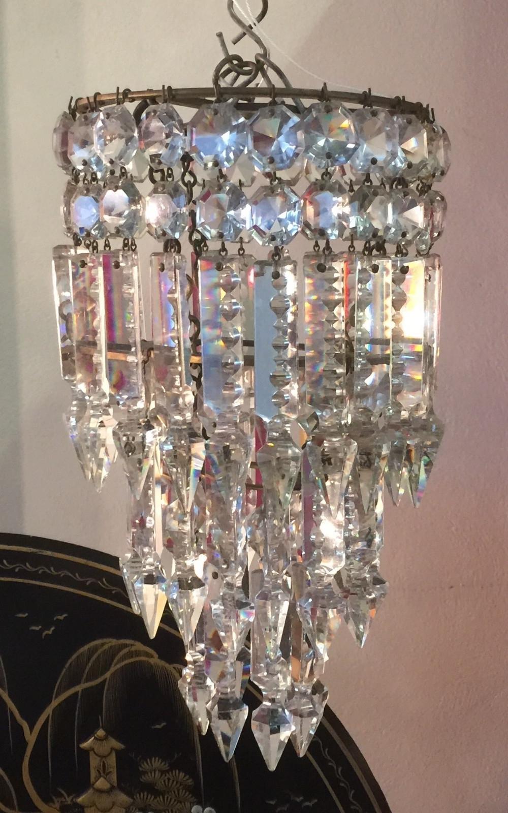 Cut Glass Lead Crystal 3 Tier Pendant Chandelier (View 15 of 20)