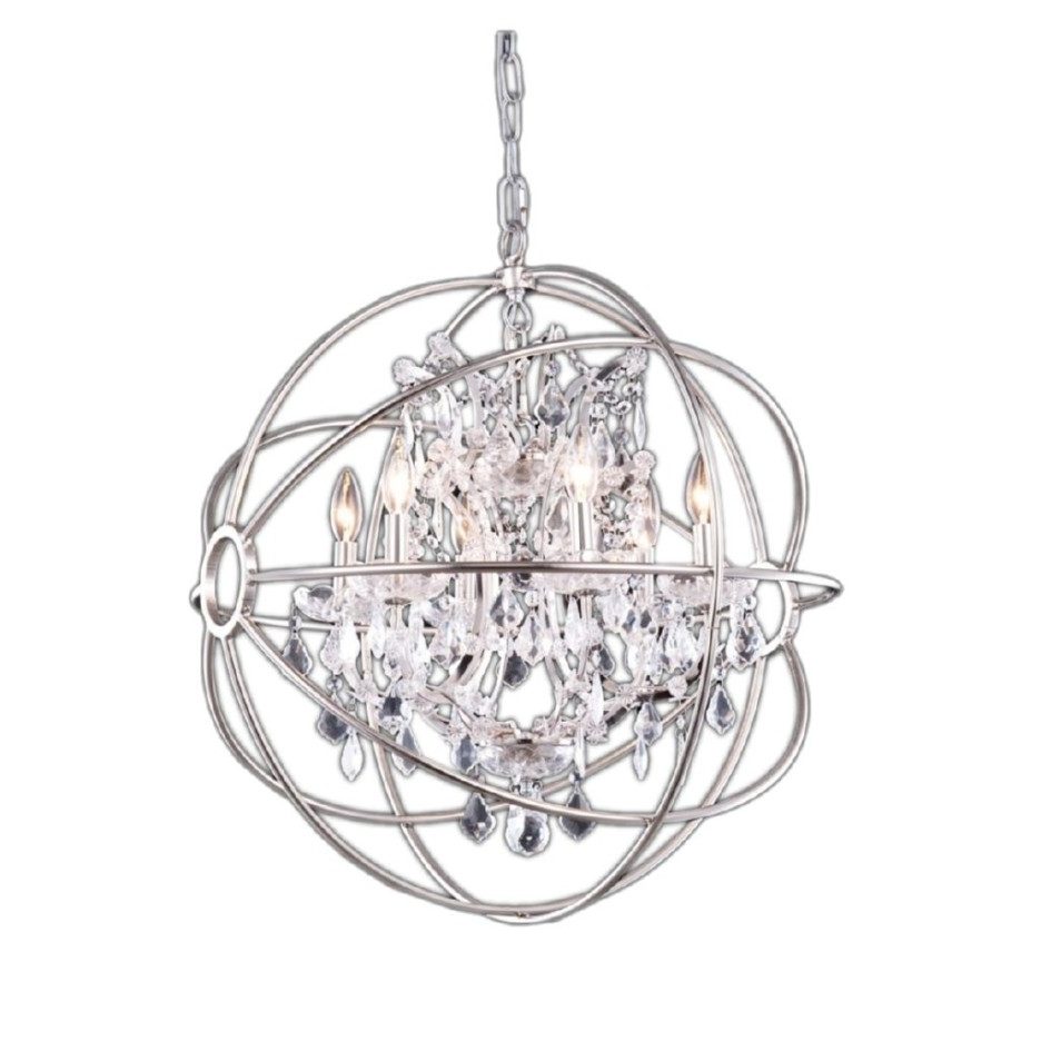 Decoration Ideas Luxury Bedroom Decoration With Round Silver Metal Inside Favorite Mini Crystal Chandeliers (View 5 of 20)