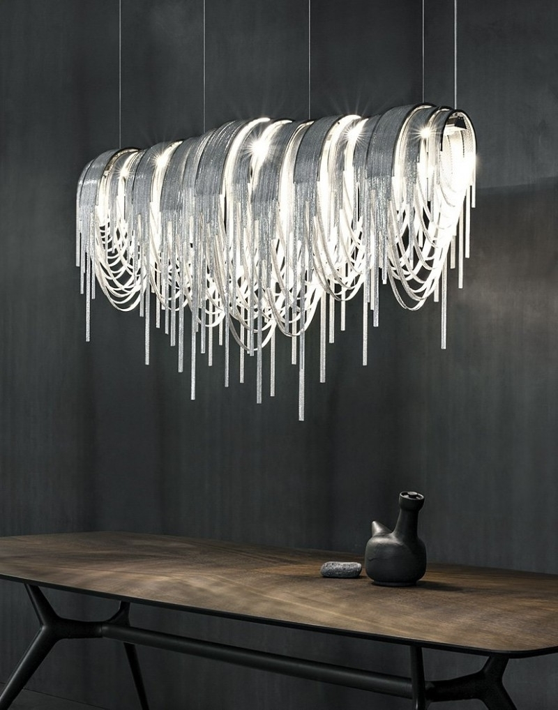 Dining For Long Modern Chandelier (Gallery 6 of 20)