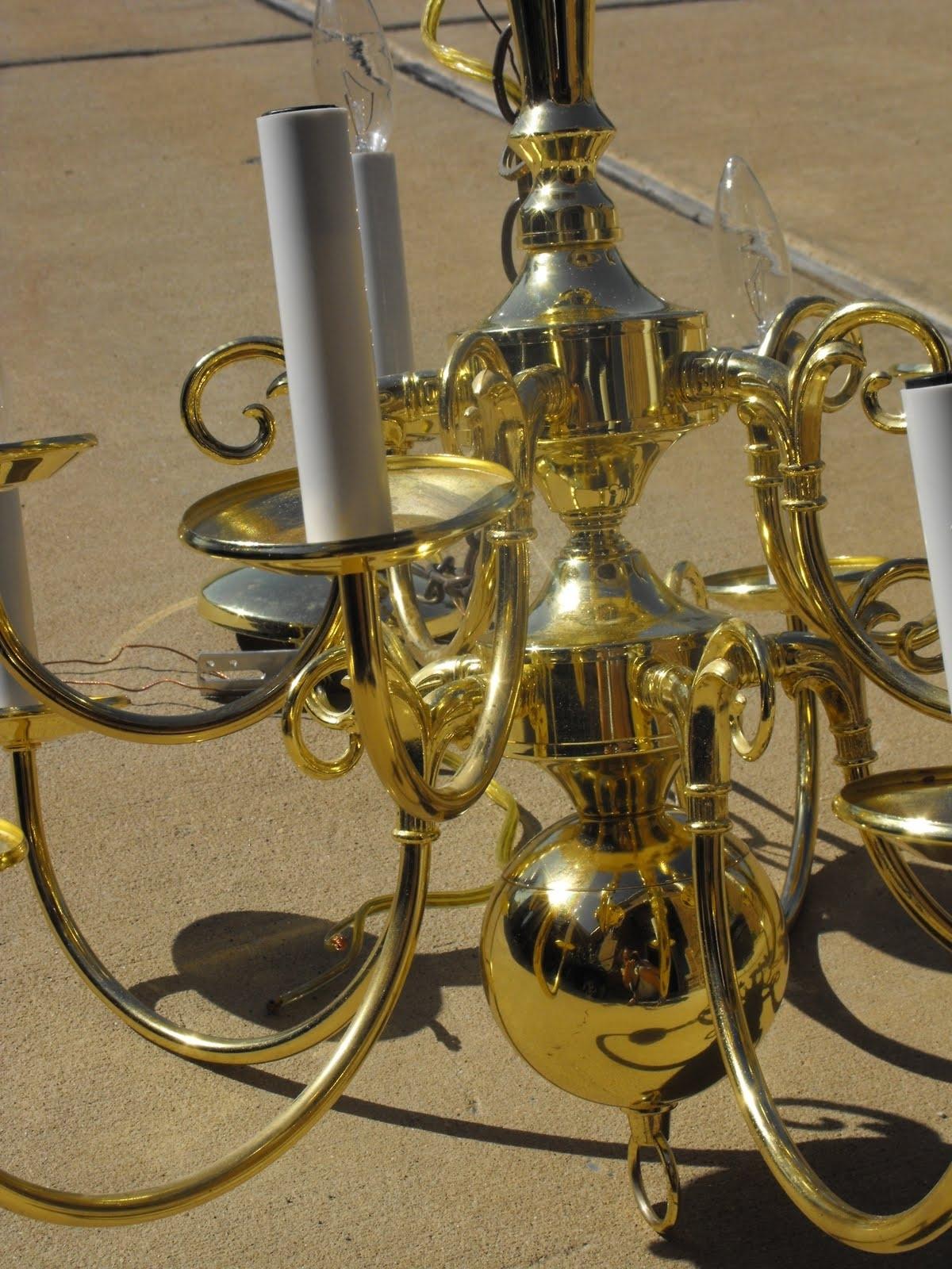Diy Brass Chandelier Makeover (View 6 of 20)