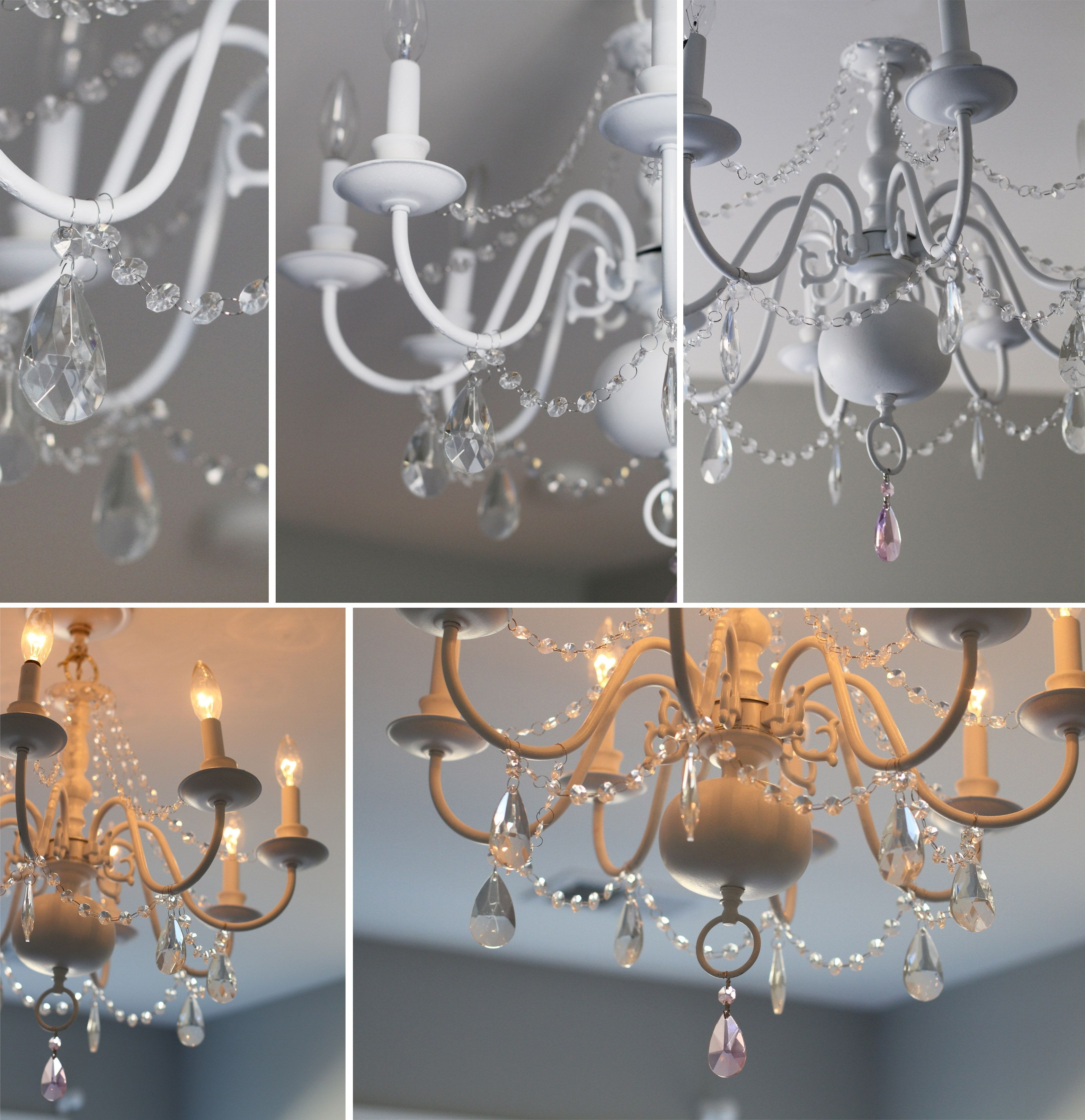 Diy Chandelier Before & After For Little Girl's Room (Gallery 20 of 20)