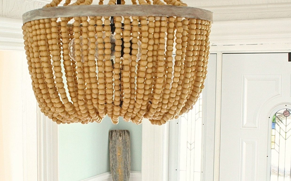 Diy Turquoise Beaded Chandeliers Inside Trendy Chandelier : Chandelier With Ceiling Fan Attached Lowes Lighting (View 8 of 20)