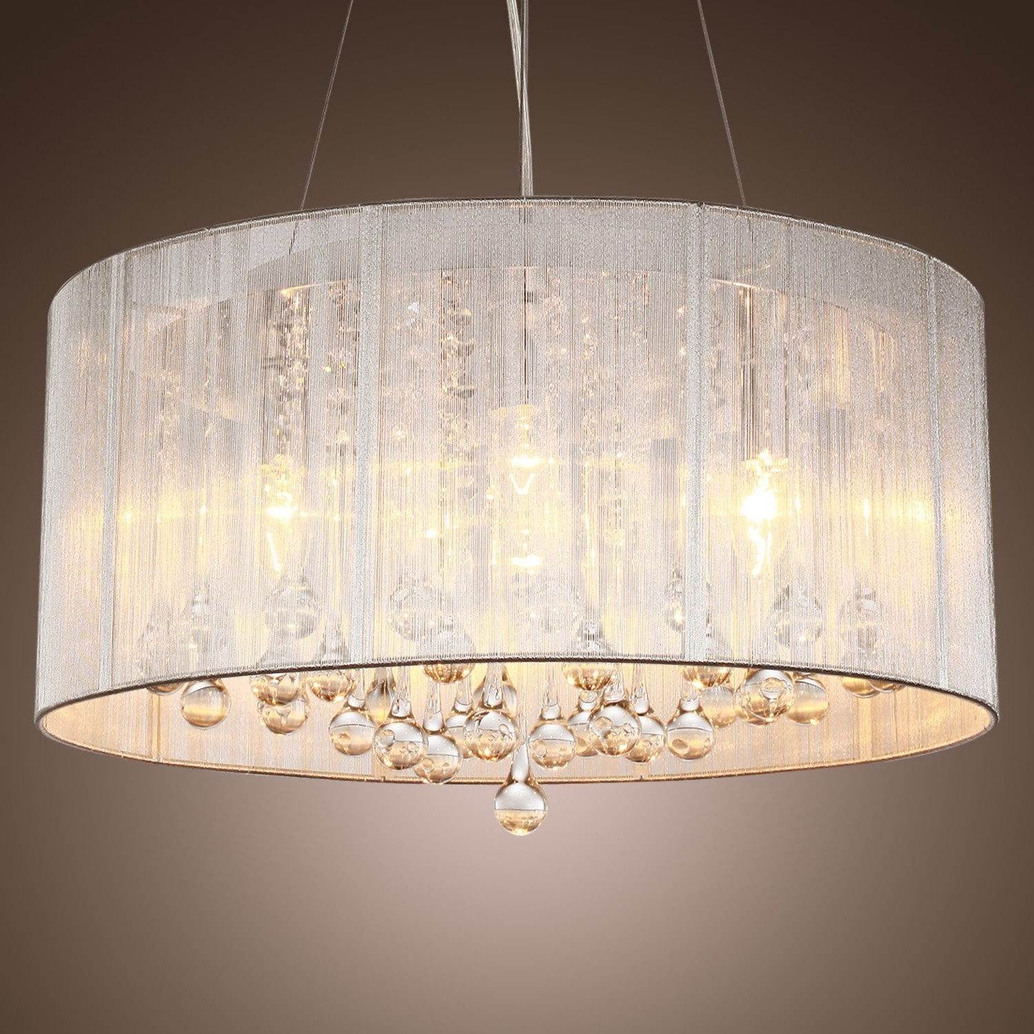 Drum Lamp Shades For Chandeliers In Recent Chandelier With Drum Shade – Espan (Gallery 4 of 20)