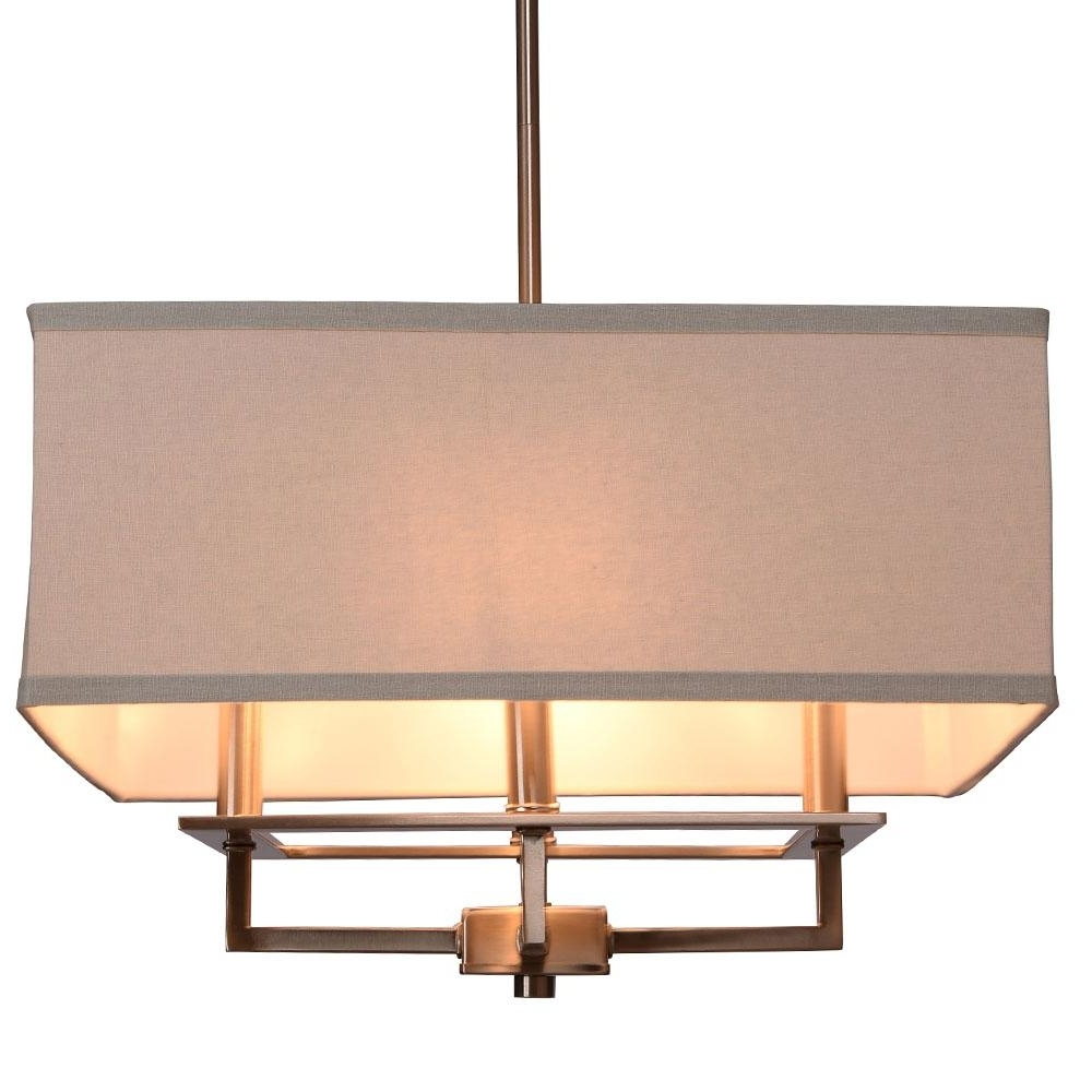 Drum – Pendant Lights – Lighting – The Home Depot With Well Liked Linen Chandeliers (View 18 of 20)
