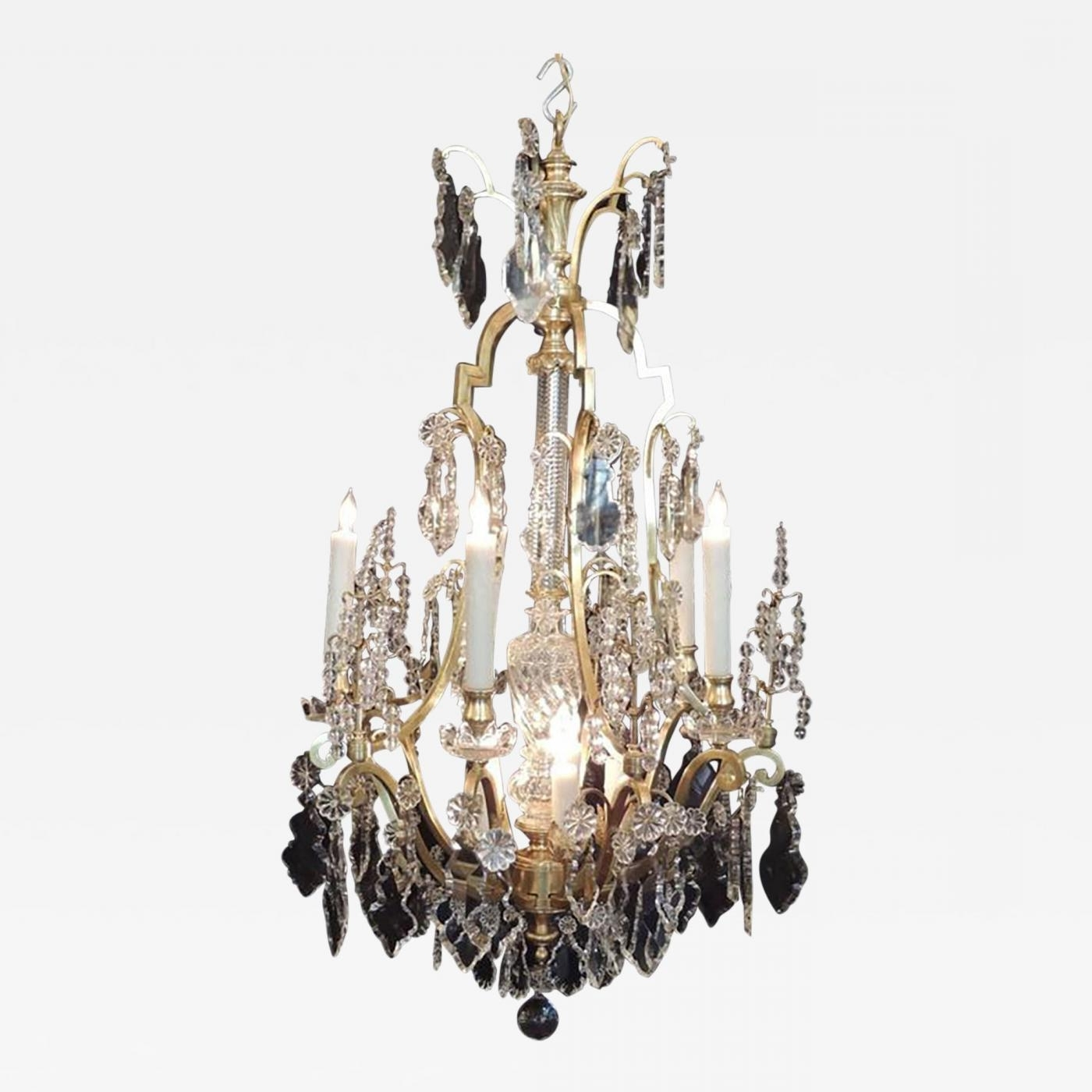 Early 20Th C French Bronze Doré And Lead Crystal Chandelier Inside Famous Lead Crystal Chandelier (Gallery 7 of 20)